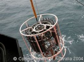 Hauling the conductivity-temperature-depth (CTD) instrument aboard